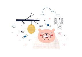 Vector libre del oso