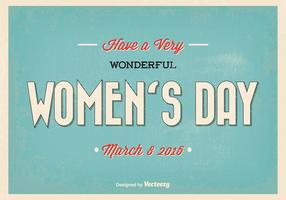 Happy Woman's Day Retro-Vektor-Illustration