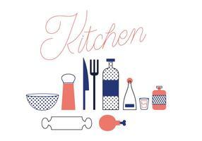Freie küchenvektor