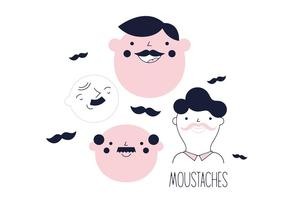 Free Mustaches Vector
