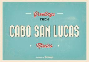 Cabo San Lucas Retro hälsning illustration