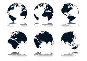 Vetores de ícone de globo