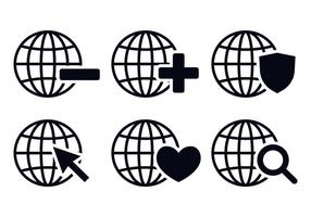 Grid World Icon Vectors