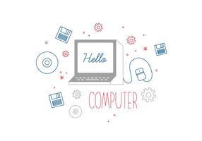 Vector d'ordinateur gratuit