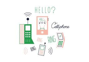 Vector de teléfono celular gratis