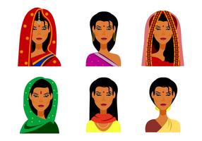 Vecteur féminin indigène gratuit