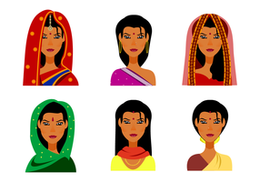Vetor indiano livre da mulher