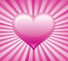 Sunburst Herz Vektor Hintergrund
