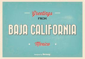 Baja californie mexico greeting illustration