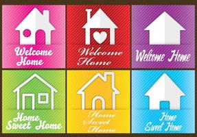 Welcome Home Cards vector