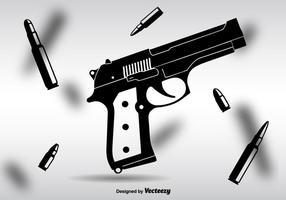 Silueta Glock Negro Vector