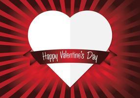 Corazón del vector Fondo de San Valentín