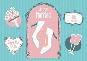 Gratis Just Merried Vector