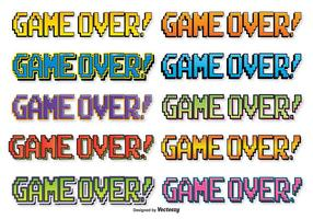 Comic Style Game Over Text
