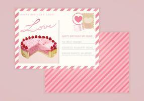 Valentijnskaart Vector Prentbriefkaar