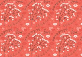 Flor roja Vector Seamless Pattern