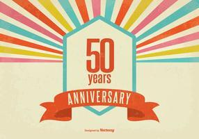 Retro stijl vijftig jaar jubileum vectorillustratie