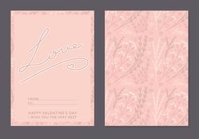 Tarjeta floral del día de tarjeta del día de San Valentín del vector