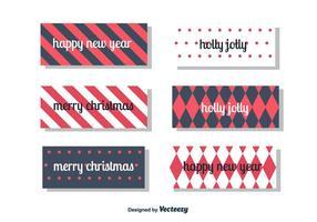 Año Nuevo y tarjeta de Navidad