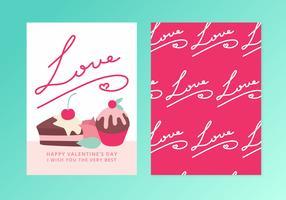 Cartão do dia dos namorados do vetor