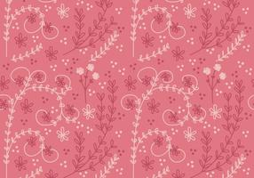 Flor Coral Vector Seamless Pattern