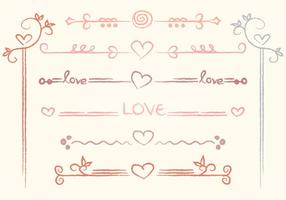 Vektor Hand-drawn Love Divider