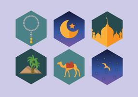 Vetor da noite árabe