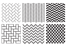 Gratis Herringbone Pattern Vector