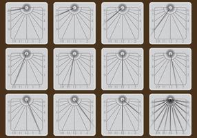 Vecteurs de pierre Sun Dial
