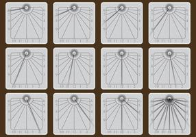 Stone Sun Dial Vectors