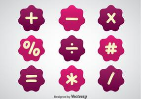 Math Symbols Purple Vectors