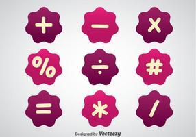 Símbolos matemáticos Vectores púrpuras