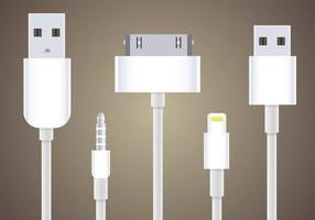 Libre Teléfono Móvil Plugs Vector
