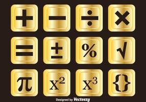 Goldene Mathe-Symbole Vektor-Sets