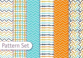 Colorful Line Art Pattern Set vector