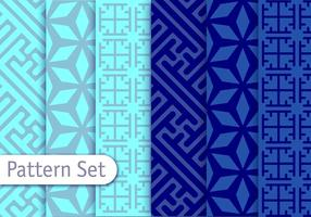 Blue Vector Arabesca Patterns