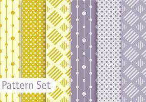 Soft Pastel Geometric Pattern Set