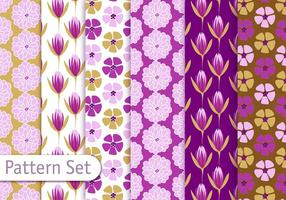 Floral Decorative Pattern Set vector