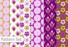 Blommig dekorativ mönsteruppsättning