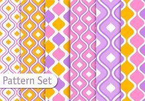 Färgglatt dekorativt mönster design set