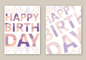 Free Happy Birthday Card Vektor
