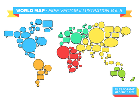 Världskarta Free Vector Illustration Vol. 5
