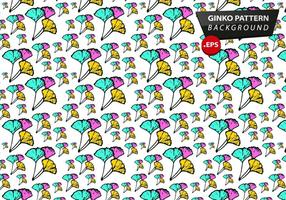 Ginko Pattern Background Vector