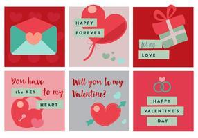 Elementos e ícones vetoriais gratuitos do dia dos namorados