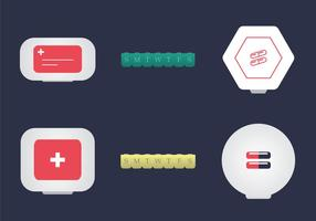 Gratis Pill Box Vektor Illustration
