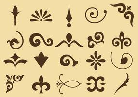 Fleurissent les icônes vectorielles