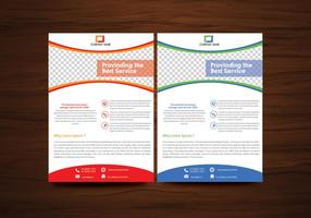 Vector folheto flyer template vector