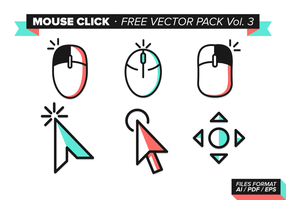 Mouse Click Free Vector Pack Vol. 3