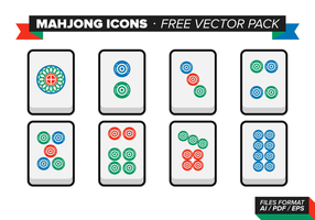Mahjong Icons Free Vector Pack