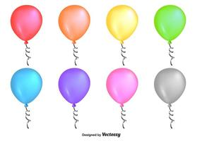 Shiny Colourful Vector Balloons